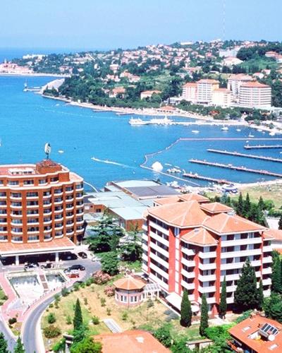 Real estate on Adriatic sea coast area
